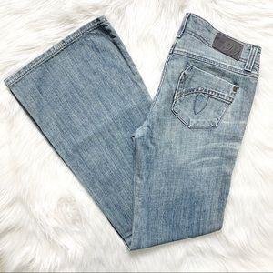 Anthropologie Light Vintage Wash Bootcut Jeans